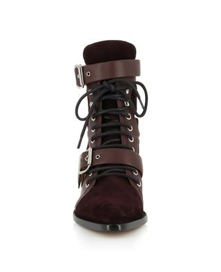 Rylee Medium strappy suede and leather ankle boots CHLOE