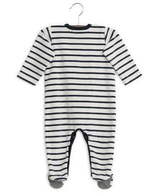 Striped velvet all-in-one PETIT BATEAU