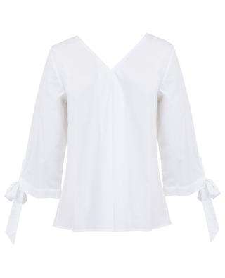 Poplin top with bows CAMICETTASNOB