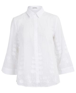 Dot embroidered A-line shirt CAMICETTASNOB