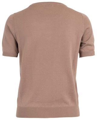 Cashmere and silk blend short sleeved jumper BON GENIE GRIEDER