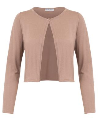 Cropped silk and cashmere cardigan with single button BONGENIE GRIEDER