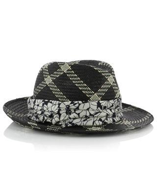 Marianne checked Panama hat INVERNI FIRENZE