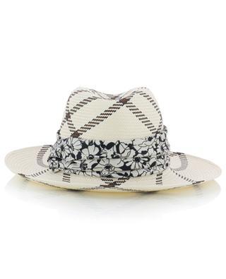 Marianne check pattern Panama Hat INVERNI FIRENZE