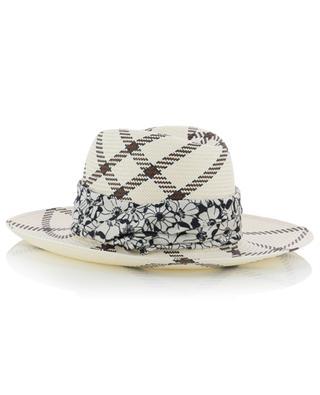 Chapeau Panama motif carreaux Marianne INVERNI FIRENZE