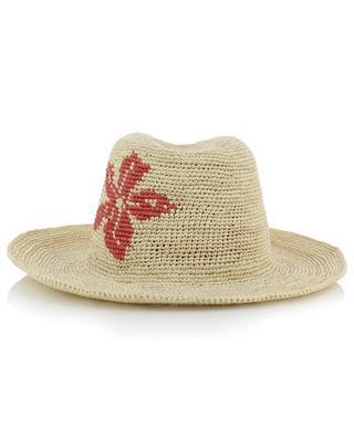 Chapeau panama motif fleur Marianne INVERNI FIRENZE