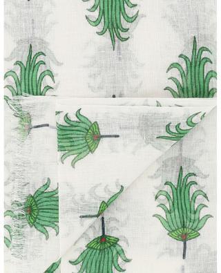Leinenschal mit Palmenfächer-Print PASHMA