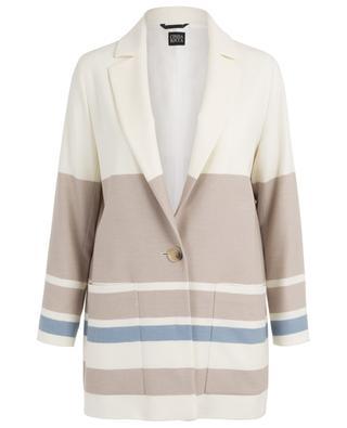 Manteau léger en laine vierge rayée CINZIA ROCCA