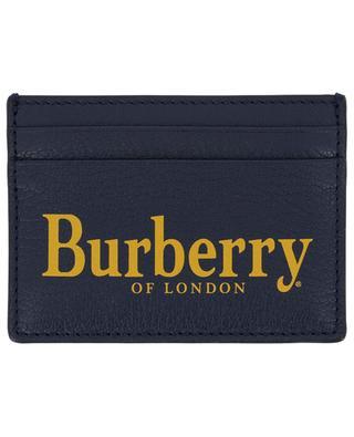 Kartenetui aus genarbtem Leder BURBERRY