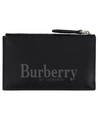 Porte-cartes en cuir grainé BURBERRY