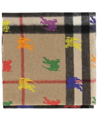 Écharpe imprimée de chevaliers Giant Check BURBERRY