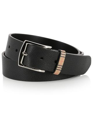 Grained leather belt BURBERRY