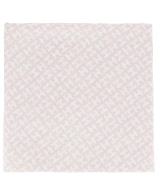 Radestripe H pattern and frame scarf HEMISPHERE