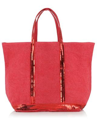 Linen and sequins adorned tote bag VANESSA BRUNO