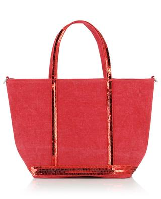 Small linen and sequins adorned tote bag VANESSA BRUNO