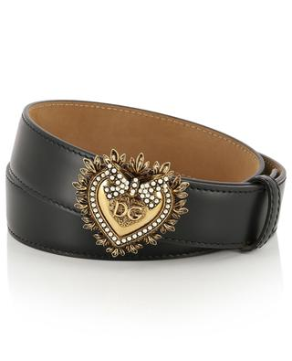 Devotion heart logo leather belt DOLCE & GABBANA