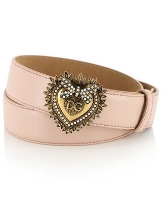 Devotion heart logo leather belt DOLCE & GABBANA