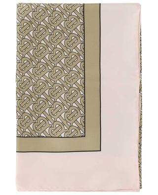 Monogram print silk square BURBERRY