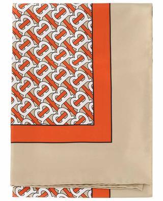 Seidentuch mit Print Monogram BURBERRY