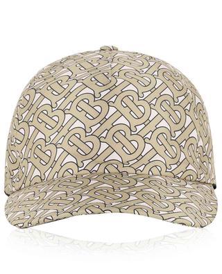 Monogram silk baseball cap BURBERRY
