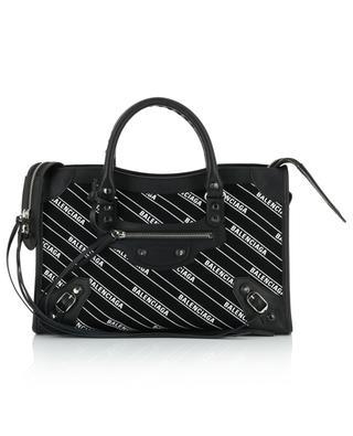 Handtasche aus Segeltuch mit Logoprint und Leder Classic City S BALENCIAGA