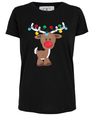 Rudolf embroidered T-shirt QUANTUM COURAGE