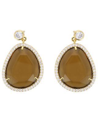 Stone earrings MOON C° PARIS