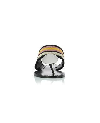 Patos Disk flat striped sandals TORY BURCH