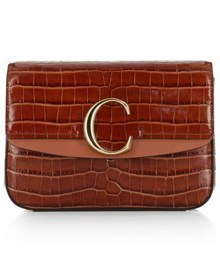 Tasche aus Leder in Kroko-Optik C Small CHLOE