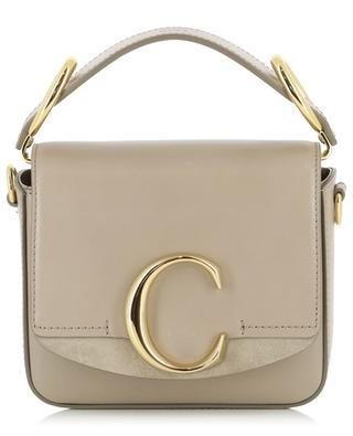 Mini-sac en cuir et daim Chloé C CHLOE