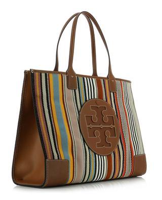 Shopper aus Stoff und Leder Ella Webbing Stripe TORY BURCH