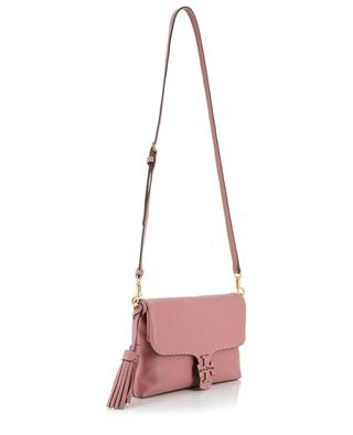 McGraw Fold-Over crossbody flap bag in grained leather TORY BURCH