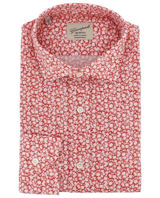 Hemd mit Efeu-Print aus Baumwolle GIAMPAOLO