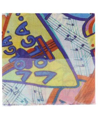 Leichter Schal mit Slogan-Print Music 19 ANDREA'S 47