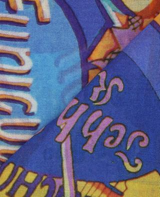 Écharpe légère imprimée slogan Music 19 ANDREA'S 47