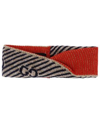 Bandeau en laine GG à rayures GUCCI