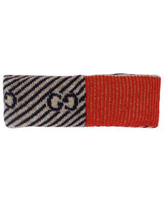 9d4915052dd1 ... Bandeau en laine GG à rayures GUCCI