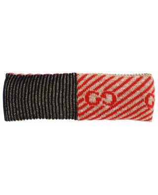 GG stripe wool headband GUCCI