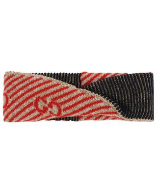 GG stripe wool headband GUCCI