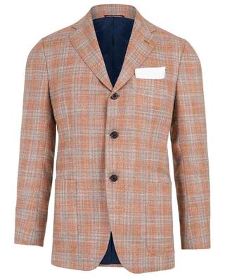 Checked cashmere and silk blazer KITON