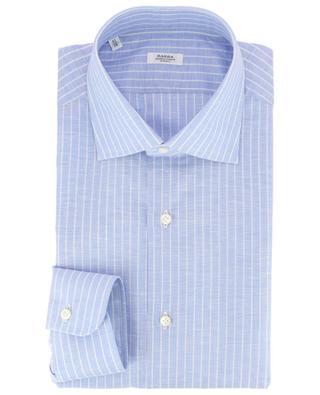 Gestreiftes Hemd aus Leinen und Baumwolle BARBA