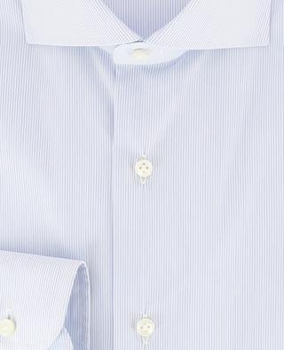 Gestreiftes Slim-Fit Hemd aus Baumwollmix BARBA