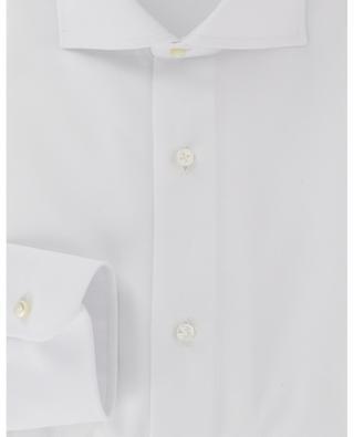 Textured cotton slim fit shirt BARBA