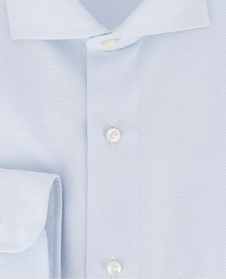 Slim-Fit Hemd aus texturierter Baumwolle BARBA