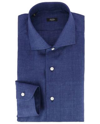 Monochrome slim fit linen shirt BARBA