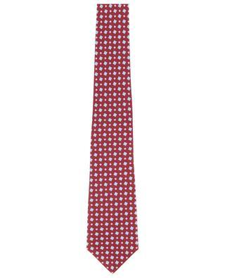 Cravate en soie imprimée KITON