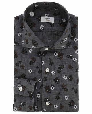 Culto floral linen shirt BARBA