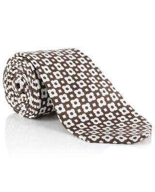 Cravate fleurie en soie KITON