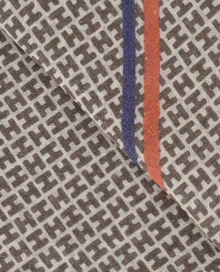 Écharpe en laine et lin monogrammée Radestripe HEMISPHERE