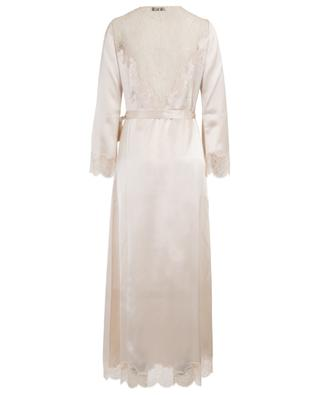 Silk and lace adorned dressing gown CARINE GILSON